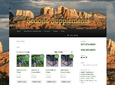 Sedona Supplements E-Commerce Website