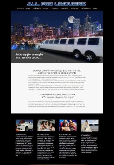 Limousine Sample Website